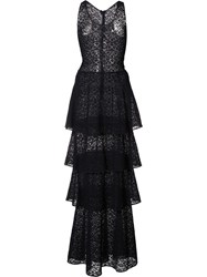 Stella Mccartney Layered Lace Maxi Dress Blue
