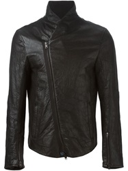 Isabel Benenato Off Centre Zipped Jacket Black