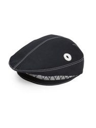 Thom Browne Shark Accented Flat Cap Navy