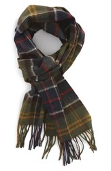 Men's Barbour Merino Wool And Cashmere Scarf Green