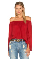 Bella Dahl Off The Shoulder Top Red