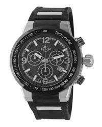 Gv2 44Mm Novara Men's Watch W Silicone Strap Black