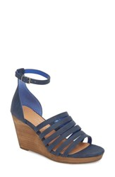 Coconuts By Matisse Kiera Wedge Sandal Blue Fabric