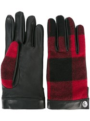 Dsquared2 Tartan Effect Gloves Black
