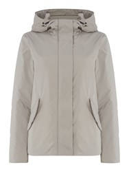 Gant Lightweight Showerproof Hooded Jacket Grey