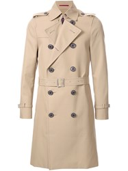 Loveless Double Breasted Trench Coat Brown