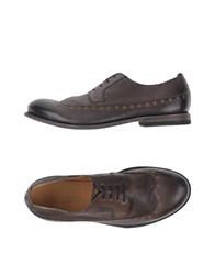 Pantanetti Footwear Lace Up Shoes Men Dark Brown