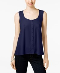 Styleandco. Style And Co. Swing Tank Blouse Only At Macy's Industrial Blue