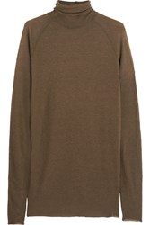 Haider Ackermann Knitted Turtleneck Sweater Green