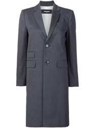Dsquared2 Skinny Cigarette Overcoat Grey