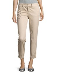 Lord And Taylor Petite Stretch Pique Kelly Ankle Pants Beige
