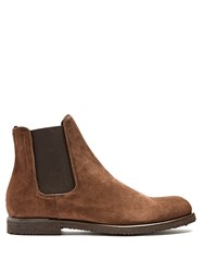 Harry's Of London William Suede Chelsea Boots Brown