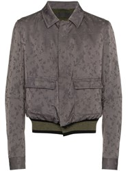 Haider Ackermann Floral Print Bomber Jacket Pink And Purple