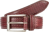 Harris Perforated Leather Belt Red