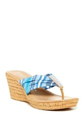 Italian Shoemakers Nellie Thong Sandal Wide Width Available Blue