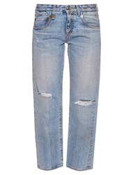 R 13 Mid Rise Straight Leg Cropped Jeans Denim