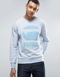 G Star Yster Sweater Sea Htr Blue