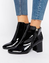 New Look Patent Ankle Boots Black