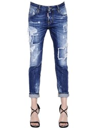 Dsquared Cool Girl Washed And Destroyed Denim Jeans