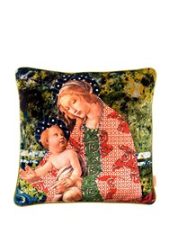 Susi Bellamy Marbled Madonna Pillow Multicolor