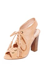 Club Monaco Mireva Lace Up Sandals Peach