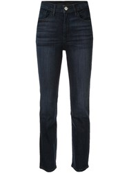 3X1 Straight Cropped Jeans Blue