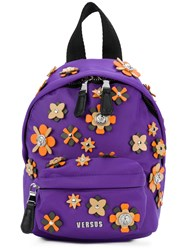 Versus Applique Backpack Pink And Purple