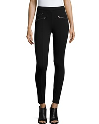 Romeo And Juliet Couture Zip Pocket Ponte Leggings Black