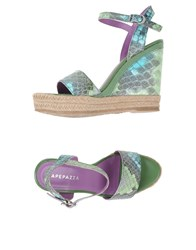 Apepazza Footwear Espadrilles Women Light Green