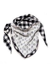 Muk Luks Plaid Festival Triangle Scarf