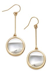 Women's Alexis Bittar 'Lucite Metal' Asymmetrical Drop Earrings Silver