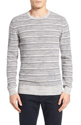 Billy Reid Men's Stripe Crewneck Sweater