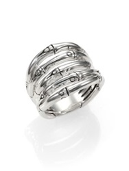 John Hardy Bamboo Sterling Silver Wide Ring