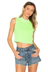Cotton Citizen The Monaco Crop Tank Green