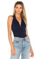 525 America Sleeveless Cutaway Top Navy