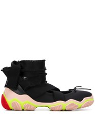 Red Valentino Redvalentino Ankle Tie Low Top Sneakers Black