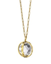 Monica Rich Kosann 18K Carpe Diem Rock Crystal Charm Necklace On 30 Delicate Chain Unassigned
