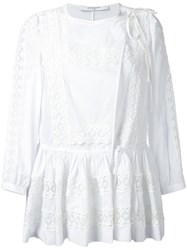 Givenchy Side Tie Flared Blouse White