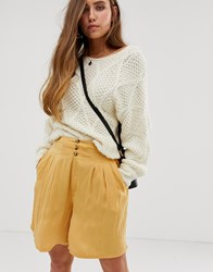 Free People Brittany Long Beach Shorts Gold