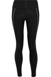 Iris And Ink Abby Metallic Trimmed Stretch Leggings Black