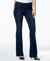 Style And Co. Pull On Flared Leg Jeans Rinse Wash Only At Macy's