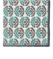 Isaia Floral Pocket Square Grey
