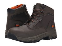 Timberland 6 Linden Alloy Safety Toe Brown Microfiber Men's Work Boots