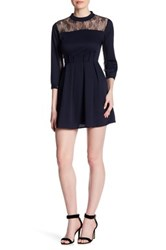 19 Cooper 3 4 Length Sleeve Lace Dress Blue