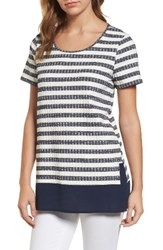 Chaus Women's Jasper Stripe Mixed Media Top