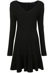 Josie Natori Ruffle Hem Dress Black