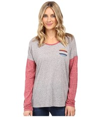 Volcom Daydreamer Long Sleeve Tee Heather Grey Women's T Shirt Gray