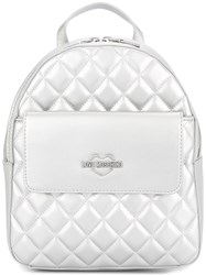 Love Moschino Small Quilted Backpack Metallic