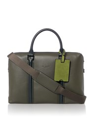 Ted Baker Jaws Leather Document Bag Green