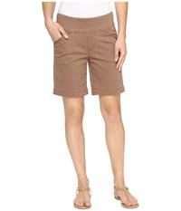 Jag Jeans Ainsley Pull On 8 Shorts In Bay Twill Birds Nest Women's Shorts Brown